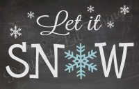 Shabby Chic Chalkboard Let It Snow Christmas by