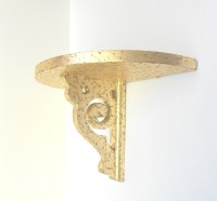 Shelf SconceGold Leaf Decorative Wall Sconce by GoldLeafGirl