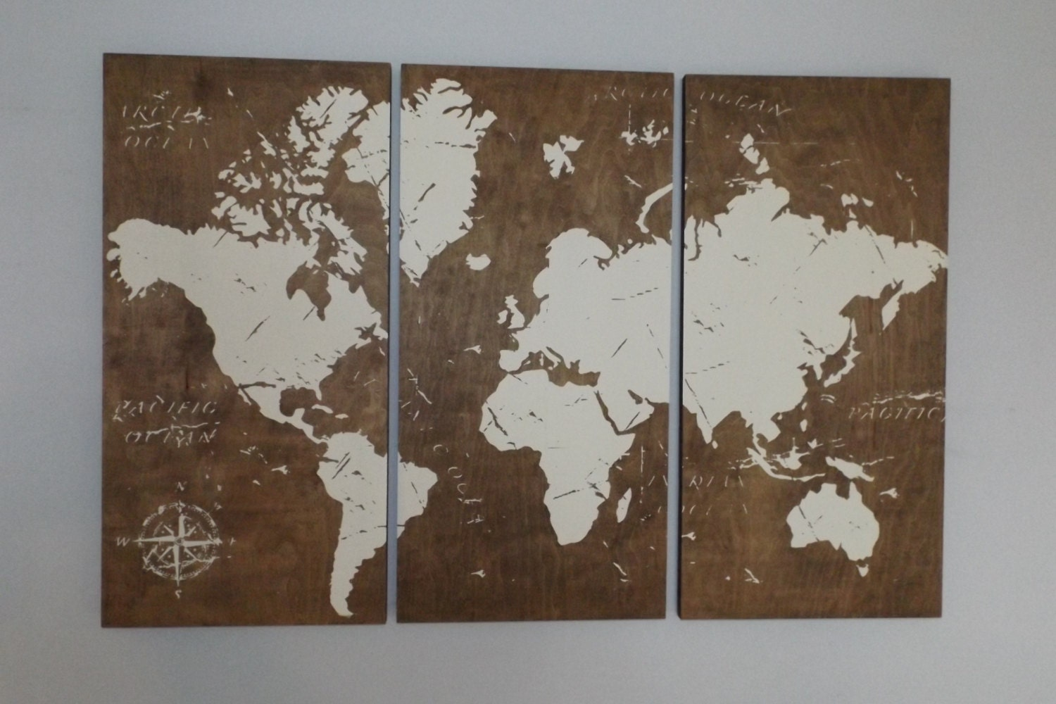 Etsy Vintage World Map | Large Vintage World Map Antique World Map ...