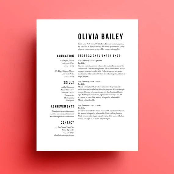 49 Modern Resume Templates To Get Noticed By Recruiters Common Resume Format Errors