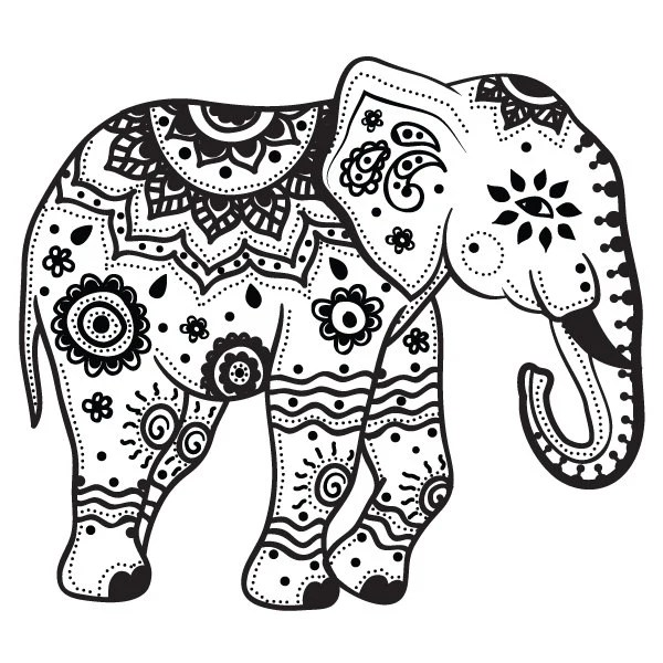 Traditional Thai elephant tattoo design Tattoos Pinterest - new elephant mandala coloring pages easy