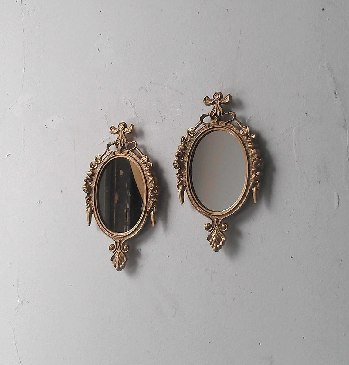 Small Gold Mirror Set Small Wall Mirror Set Of Two In Traditional Gold Vintage Home