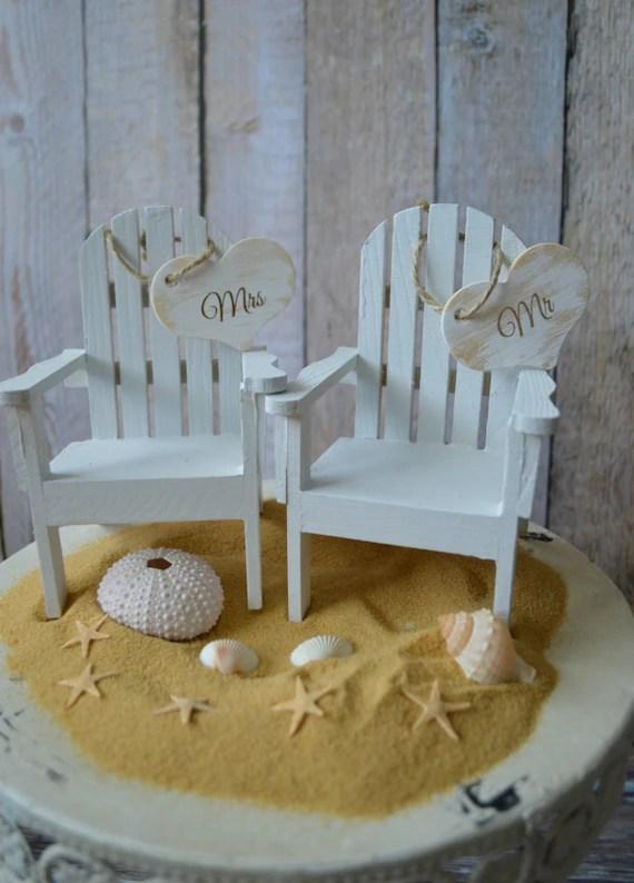 Beach Chairs Beach Wedding Cake