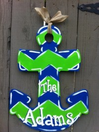 Wooden Anchor Door Hanger Hand Painted by Earthlizard on Etsy