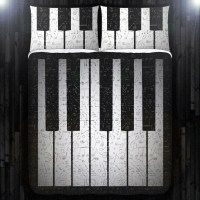 Music Note Key Piano Duvet Cover Bedding Queen Size King Twin