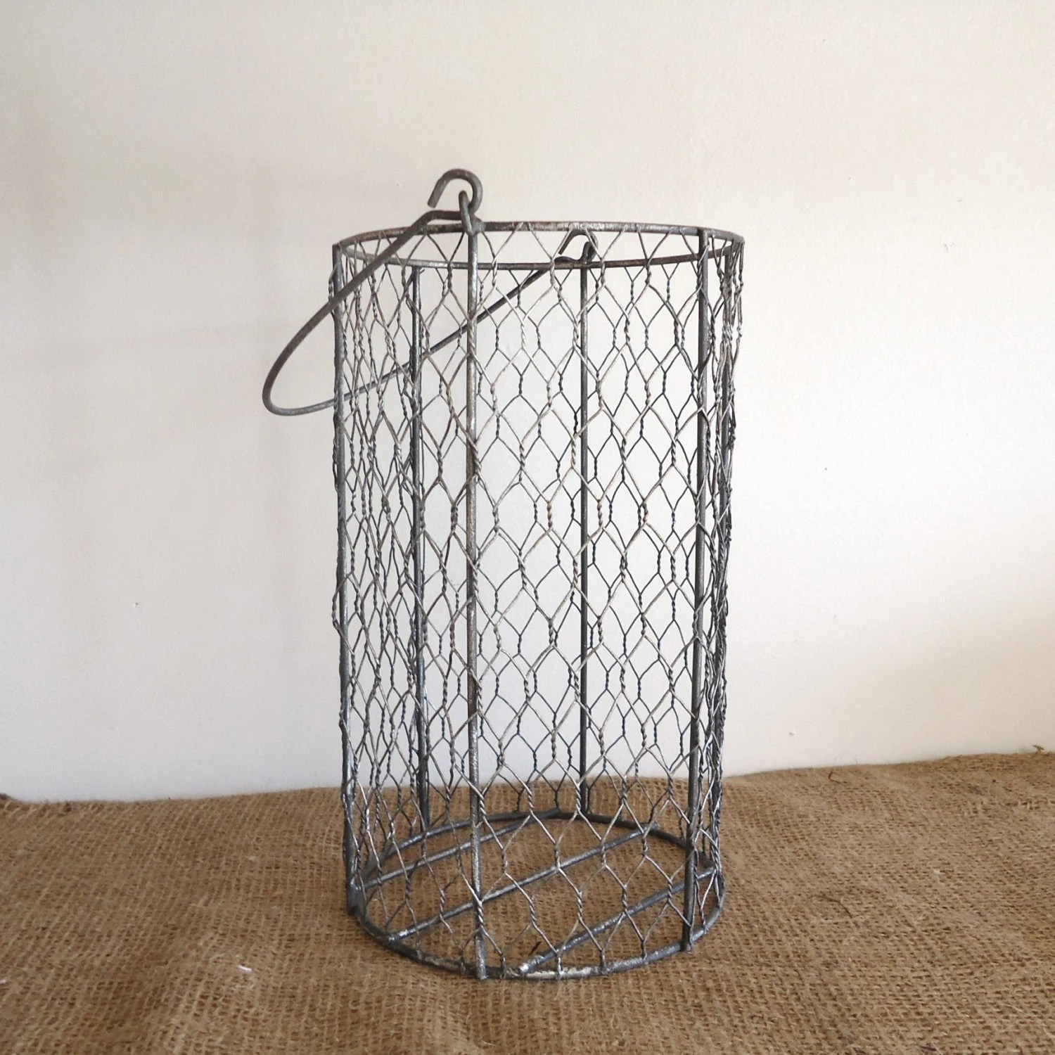 Drahtkorb Garten Vintage Wire Basket Garden Chicken Wire Basket Bathroom