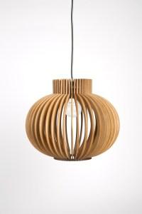 Scandinavian style wooden hanging lamp / lighting / design ...