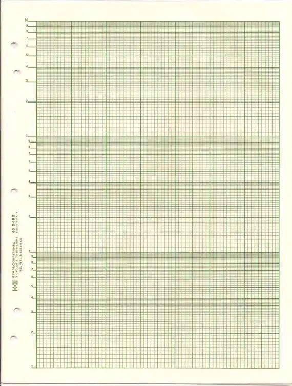 Semi Logarithmic Graph Paper Ke 46 5492 3 Cycle X 70