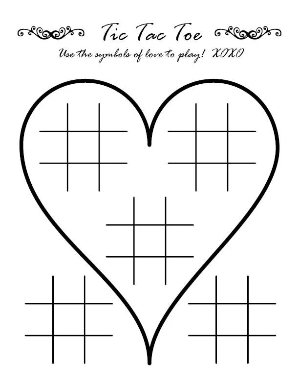 Tic Tac Toe Wedding Activity Page - tic tac toe template