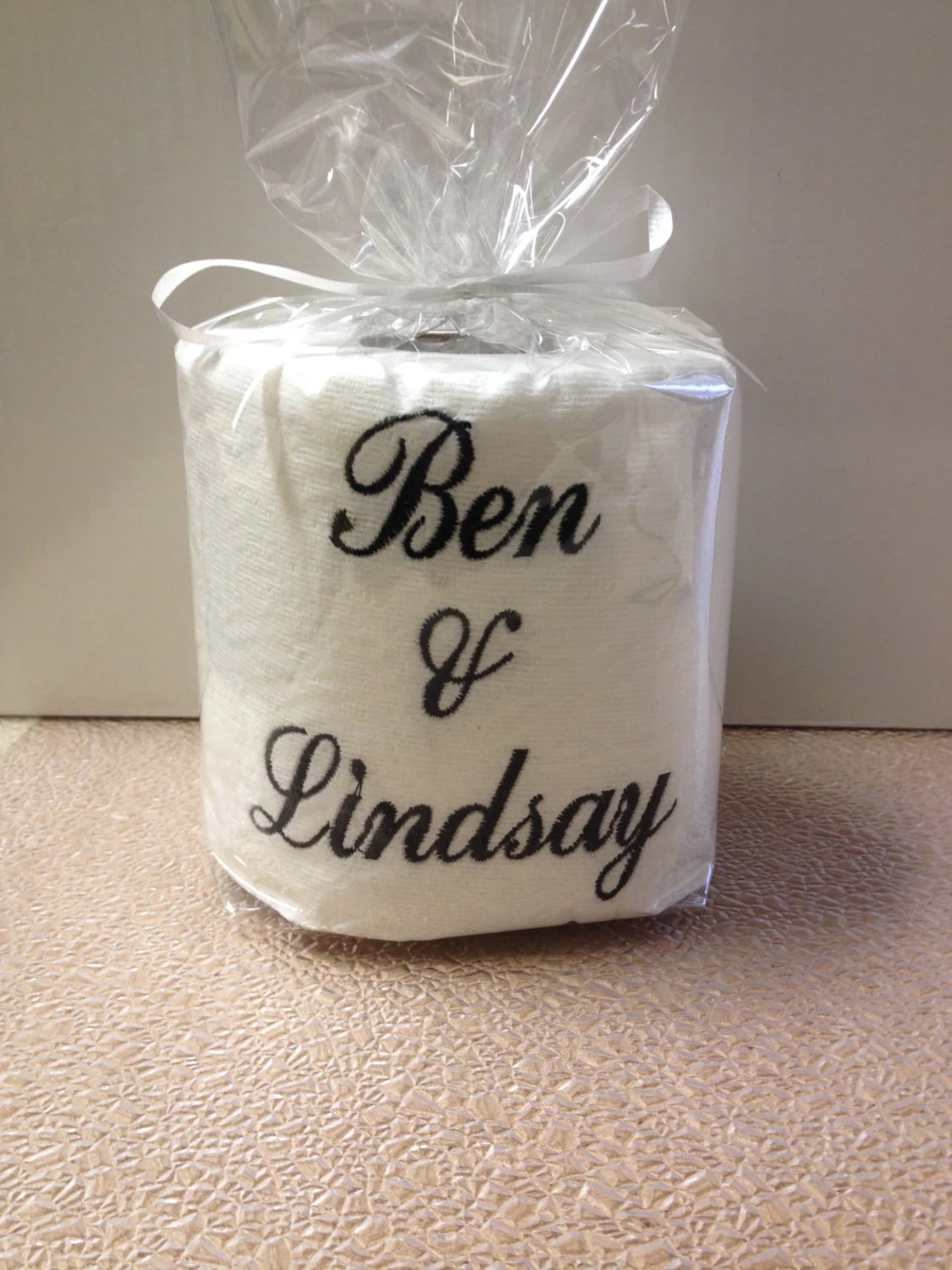 Custom Made Toilet Paper Embroidered Personalized Toilet Paper With Names Or Monograms