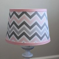 Small Pink Gray Chevron lamp shade. by babymilanbedding on ...