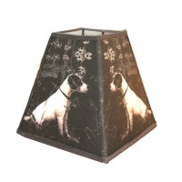 Bell lamp shade handmade dog lamp shade fabric lamp shade