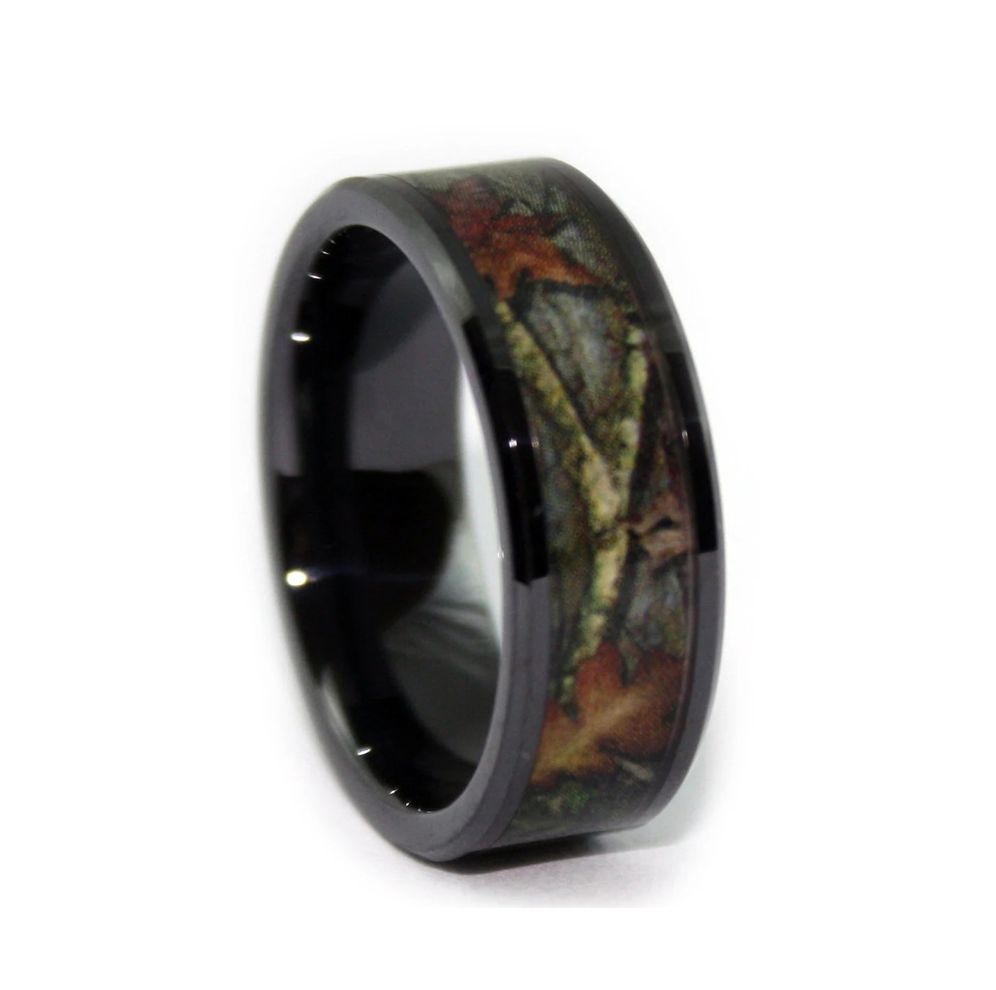 black camo wedding rings by one camo 8mm pink camo wedding ring zoom