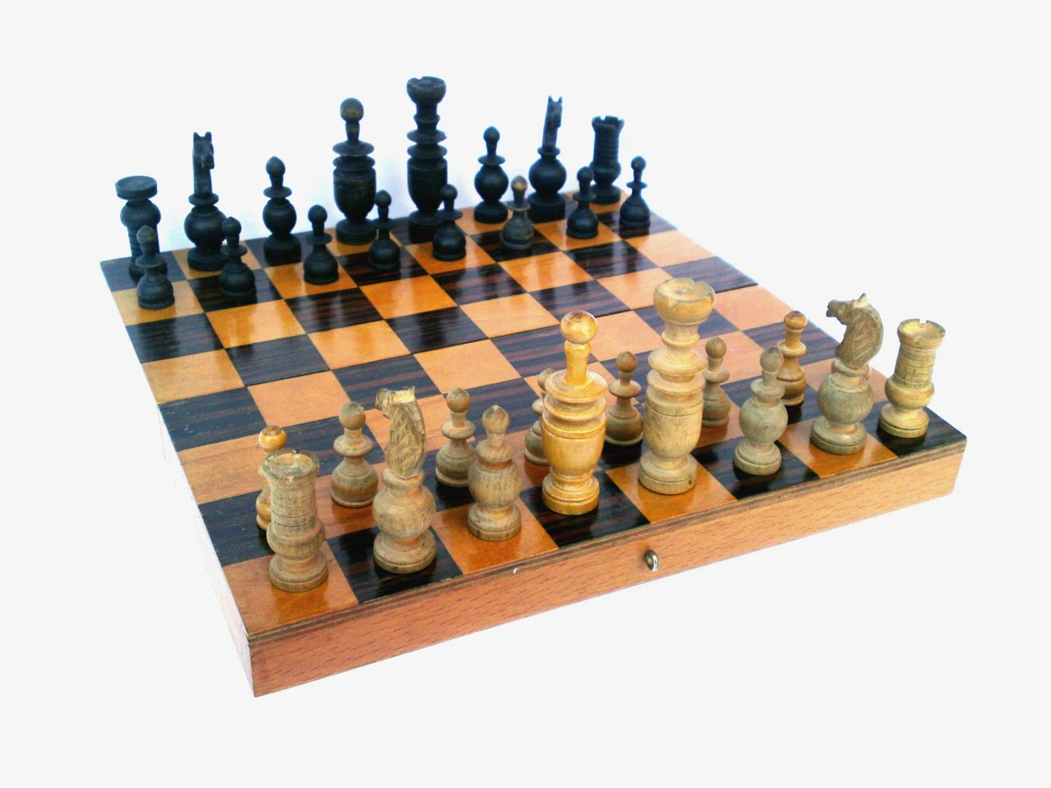 Chess Decor Vintage Wooden Chess Board Game Backgammon Board By