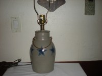 Rowe Pottery Works Lamp Salt Glaze Crock Cambridge