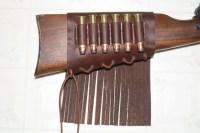 Custom Leather Rifle Stock Cartridge Holder