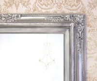 ANY COLOR Brushed Nickel Bathroom Mirror Framed by ...