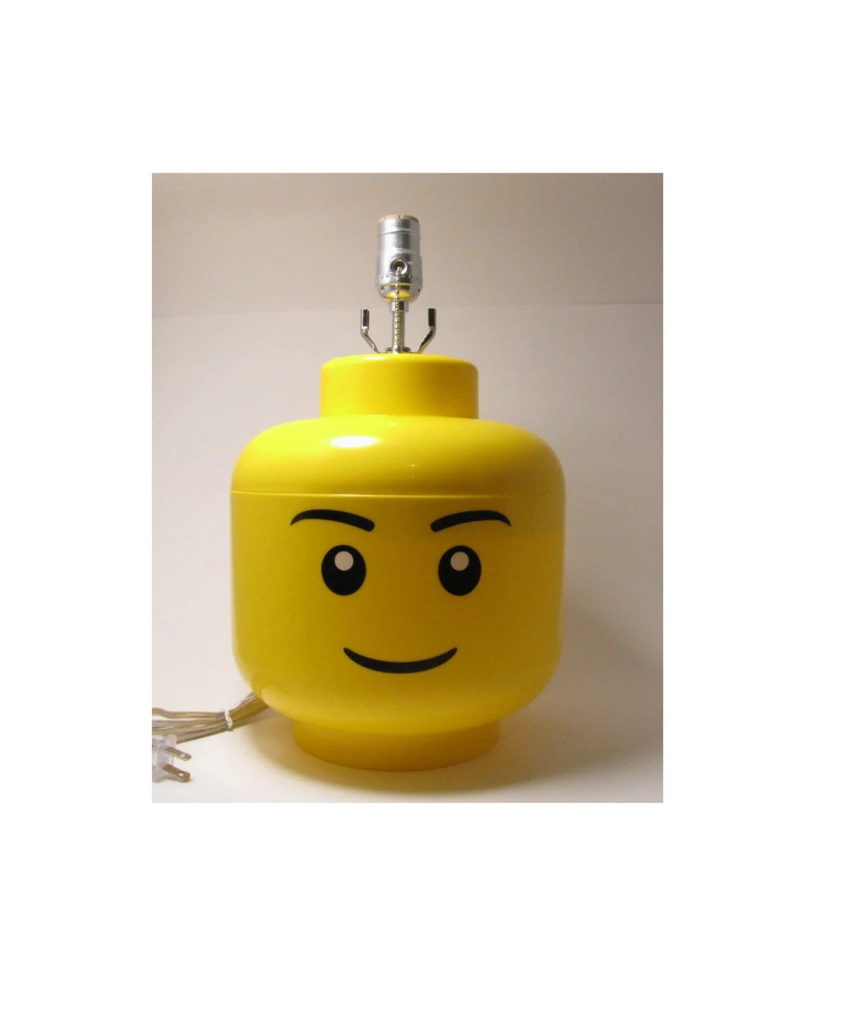 Bedside Lamps Big W Large Male Lego Minifigure Head Lamp Perfect Lego Themed