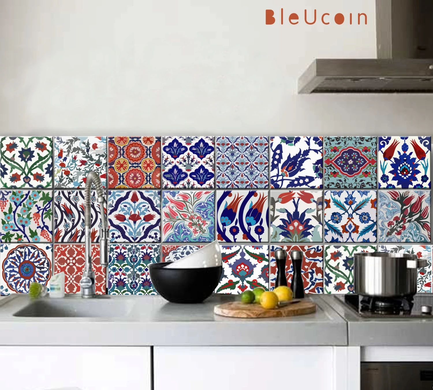 wall stickers tiles modren ceramic tile decals for kitchen stickers cm selfadhesive antioil e design ideas