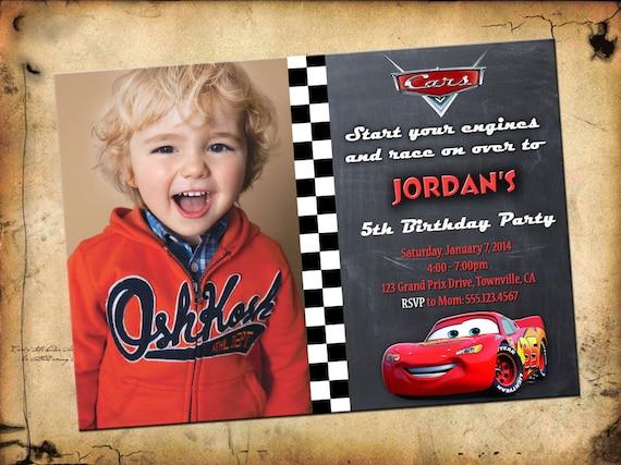 Disney Cars Invitation Cars Birthday By Printablestoyou On