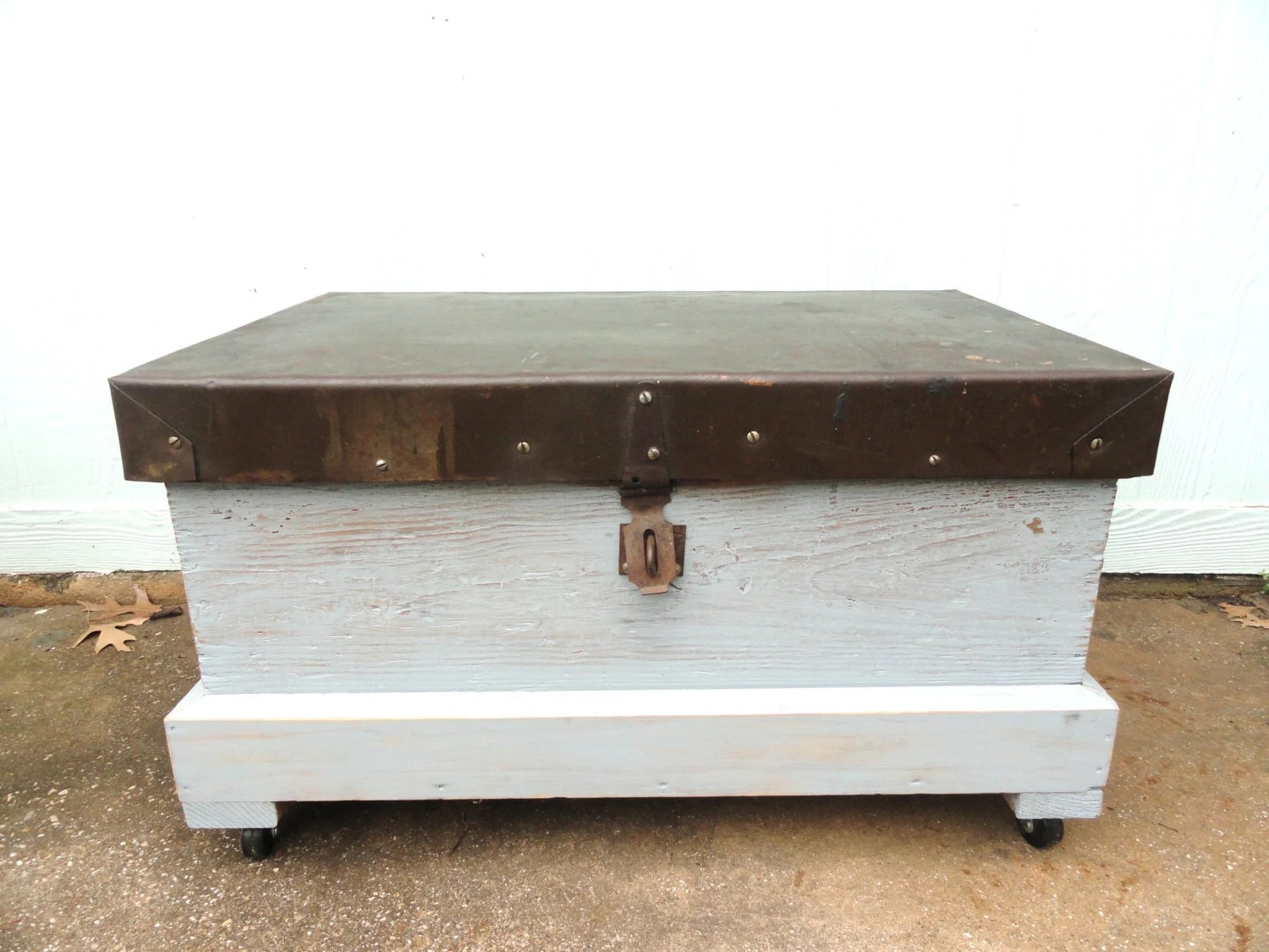 Coffee Table With Lid Repurposed Trunk Box Coffee Table Storage Organizer