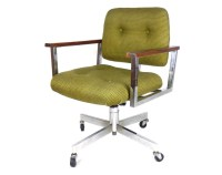 Mid Century Modern Office Chair Chrome Desk Chair Swivel