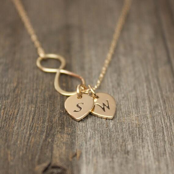 Infinity Necklace Personalized Jewelry Monogram Initial