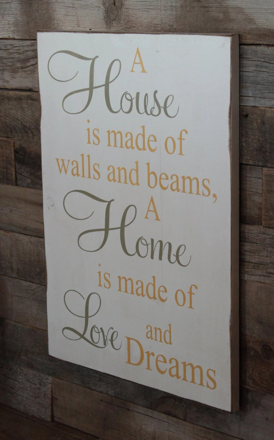 Baby Close Large Wood Sign A House Is Made Of Bricks And By Dustinshelves