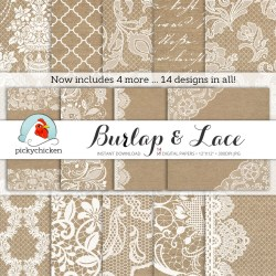 Small Of Burlap And Lace