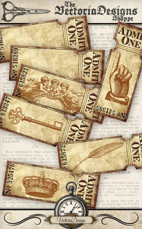 Grunge Ticket Strips printable tickets paper crafting scrapbooking - printable ticket paper