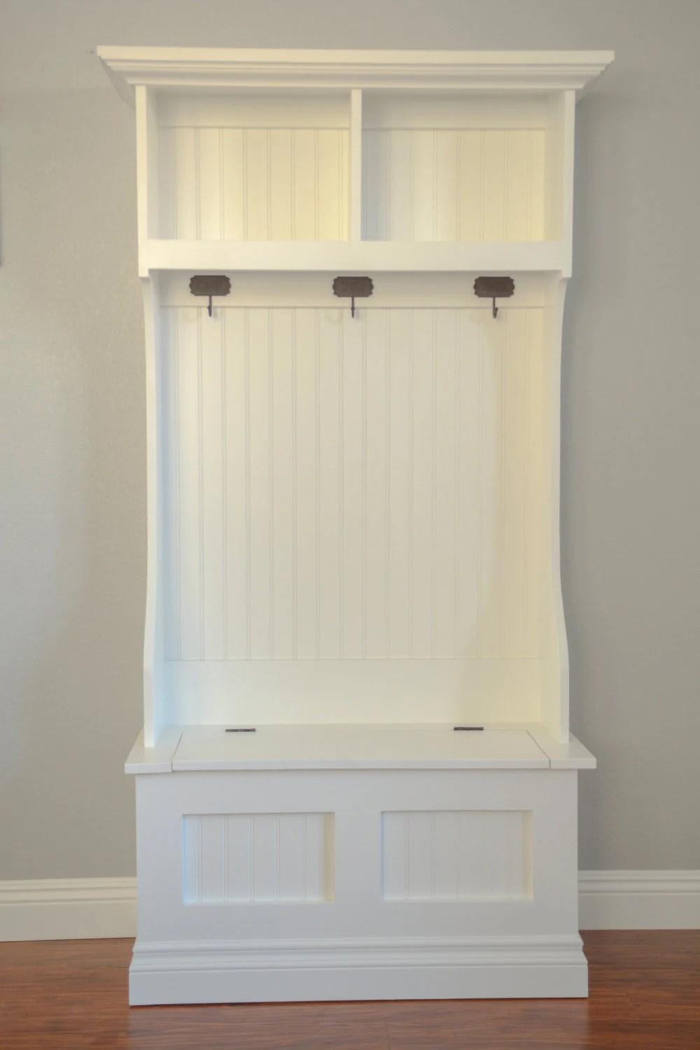 Hall Tree Mudroom Storage Bench And Hutch Beautifully Made