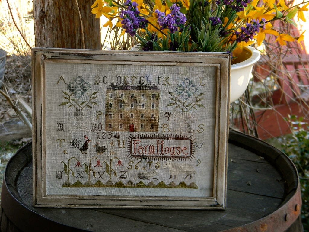Farmhouse Threads Spring Farmhouse Counted Cross Stitch Paper Pattern