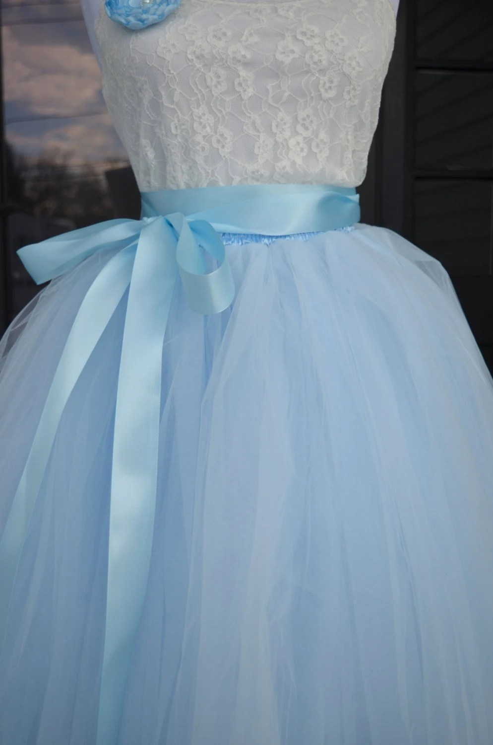Baby Dolls Pics Womens Tutu Soft Baby Blue Tulle Skirt Light By