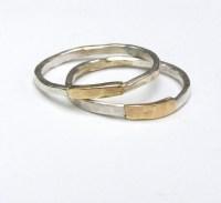 Set Wedding ring Handmade wedding bands silver sterling ring