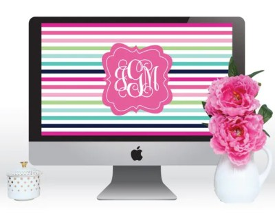 Items similar to Personalized Monogram Computer Wallpaper - Laptop Wallpaper - Screen Saver on Etsy
