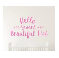 Items similar to Hello Sweet Beautiful Girl Wall Decal ...