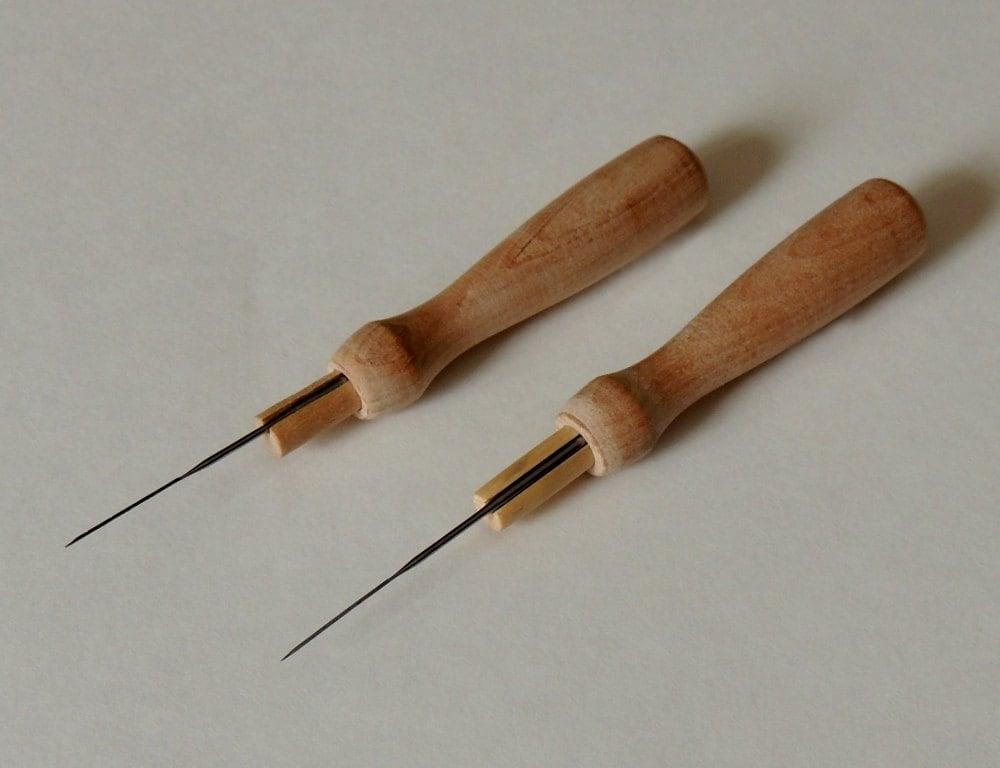 Wooden Needle Holder Two Felting Needle Holders Including