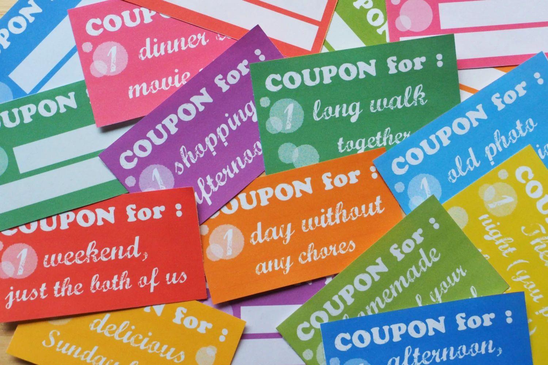 homemade gift coupons