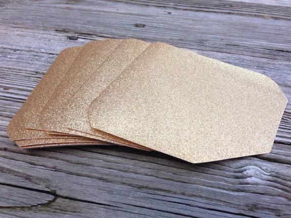 Gold or Silver Glitter Envelope Liner A7 5x7 Envelope Liner - sample 5x7 envelope template