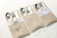 Burlap Silverware Holders Table Decor by FriendlyEvents on ...