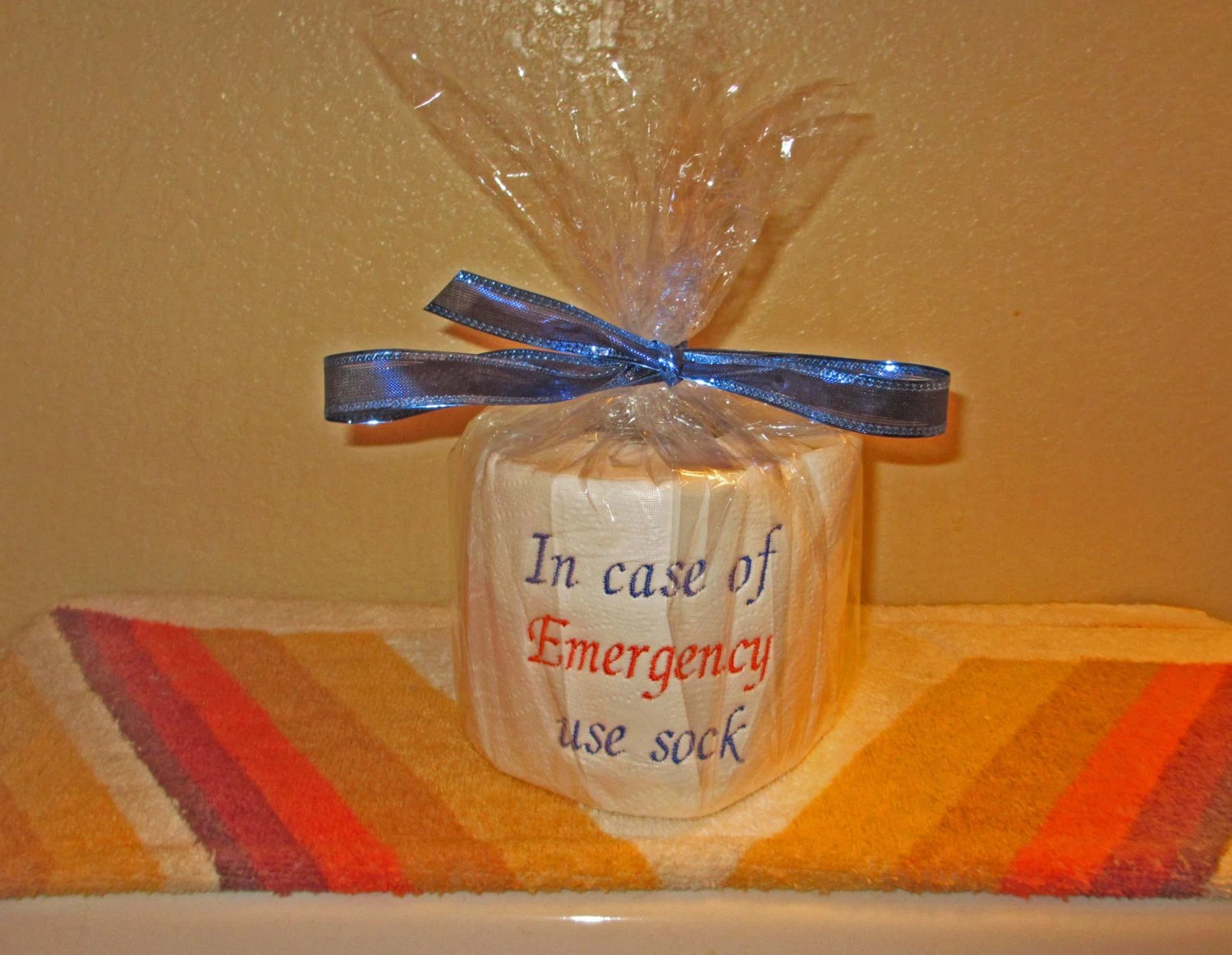 Custom Made Toilet Paper Custom Embroidered Toilet Paper In Case Of Emergency Use Sock