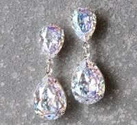 Aurora Borealis Earrings Swarovski Crystal Confetti Glitter