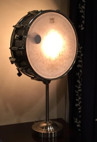 Vintage Snare Drum Table Lamp Musicians Lighting by ...