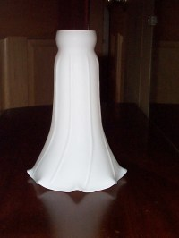 White Glass Tulip Lamp Shade or Chimney Lily Pad Lamp