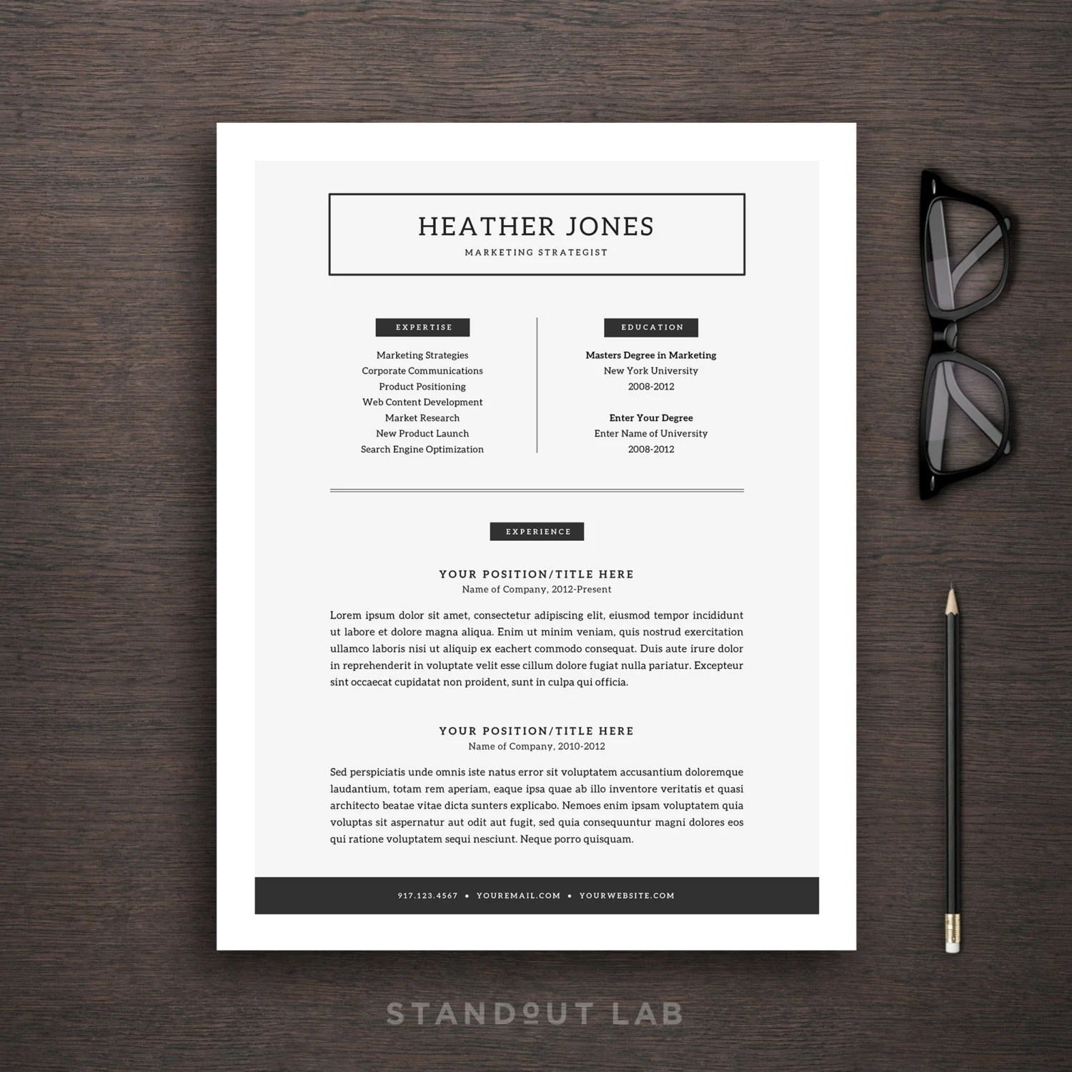 Resume Word Vorlage | Sample Customer Service Resume