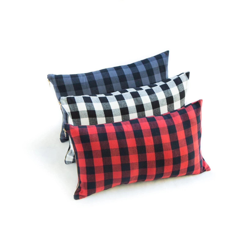 buffalo check pillows
