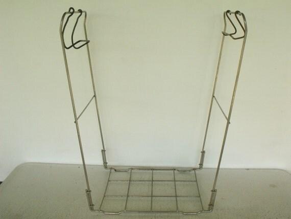 Trash Bag Holder Laundry Frame Metal Stand Recycling Folding 5