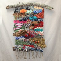 Woven Wall Hanging with Found Objects Weaving Wall Hanging