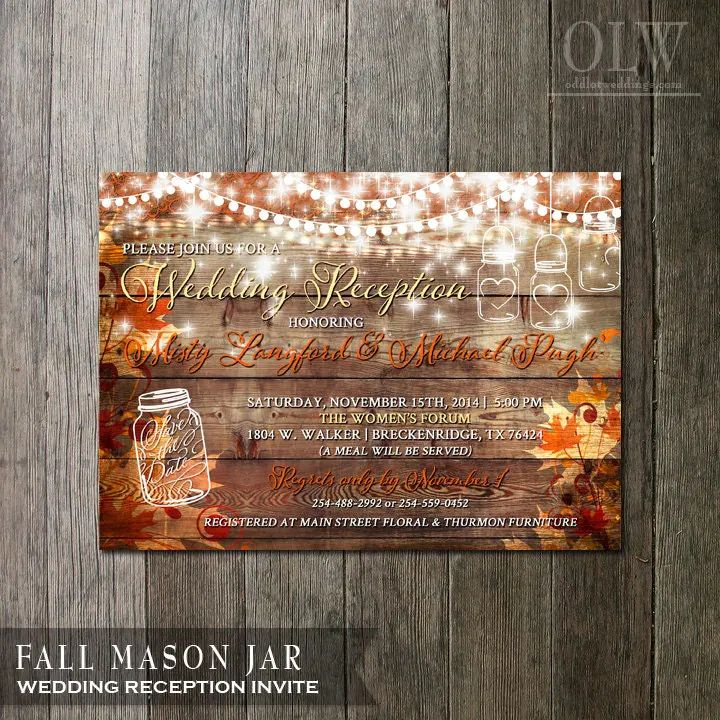 autumn party invitation