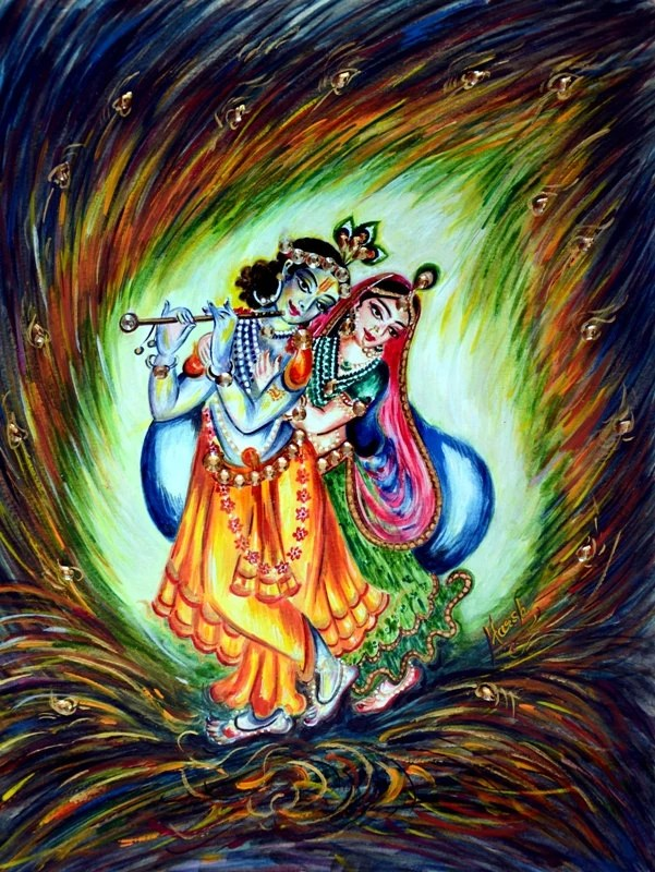 Harsh 3d Name Wallpaper Vintage Radha Krishna Painting Indian Art Divine By